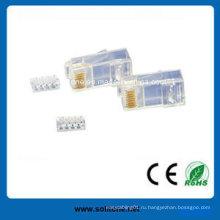 Модульные вилки UTP CAT6 для 4p4c, 6p4c и 8p8c