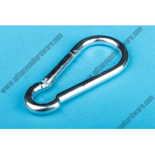Gancho a presión de acero inoxidable DIN5299c Mosquetón de metal