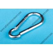 Hardware de aço inoxidável do mosquetão do metal do gancho DIN5299c da pressão