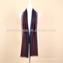 franja de lana mercerizada de color de la raya para los hombres de negocios