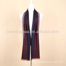 stripe color mercerized wool scarf for businessmen