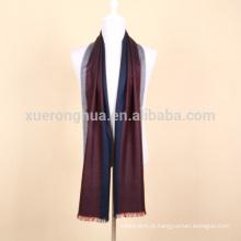 lenço de lã mercerizado a cores de listra para empresários
