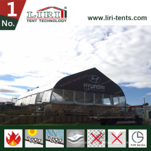 Großes Aluminium klares Span PVC-gebogenes Dach-Konzert-Zelt für Verkauf