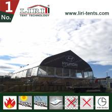 Grande tente en aluminium de concert de toit incurvée par PVC d'envergure claire à vendre