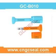 Parafuso numerada selo GC-B010 com aço carbono