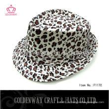 Мода Leopard Fedora шляпы
