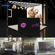 Detian Offer 10ft aluminum display rack exhibition booth for hair trade show