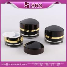 Пластик 15г 30г 50г черный акриловый косметический фляга