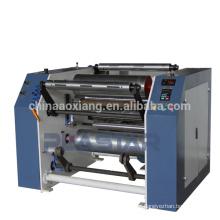 Máquina de rebobinamento de filme de estiramento plástico de alta velocidade automática cheia de corte