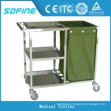 SF-HJ4010 тележка для больниц из нержавеющей стали