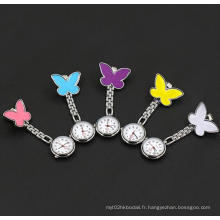 Yxl-960 Factory Price Fob Quartz Metal Nurse Watch Sweet Heart Design avec Sourire Face Medical Use Clip Watch