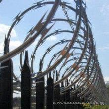 Matériau de construction Fil de quincaillerie galvanisée à chaud utilisé dans la clôture de bordure