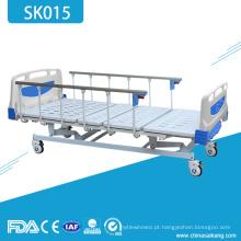 Cama paciente manual aluída barata do hospital quatro de SK015 para a venda
