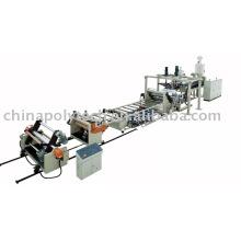 PE / PP / PS / PMMA / PC / ABS / PET línea de extrusión de lámina de una sola capa / multicapa