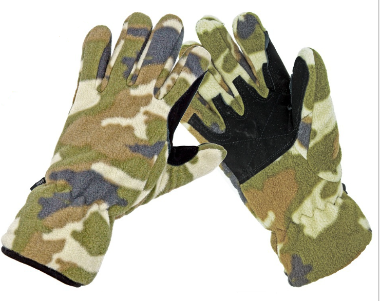 Trendy Camouflage Polar Fleece Gloves