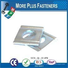 Fabriqué en Taiwan Acier au carbone Acier inoxydable carré biseauté pour canal DIN 434 Rondelle carrée