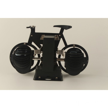 horloge de table de bicyclette de luxe noir
