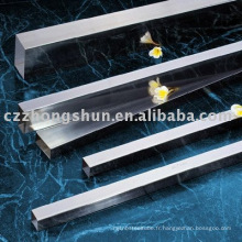 Astm polished high quality 304 structure steel square pipe en stock