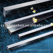 Tubo quadrado terminado brilhante / cangzhou quente da venda do tubo na melhor qualidade conservada em estoque