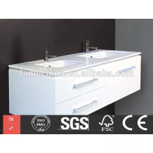 China bathroom furniture double sink bathroom mirror cabinet