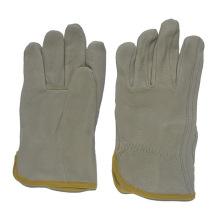 Cuero de cerdo de seguridad de trabajo guantes de conducción para los conductores