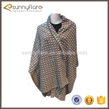 Hot sale women jacquard knit cashmere shawl