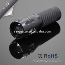 Zoom function led torch flashlight