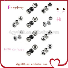 Body piercing jewelry newest wholesale custom designs stud earrings logo earrings