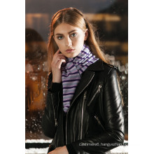 Plastic polar fleece knitted scarf with high quality