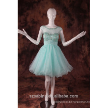 2017 Fashion Wholesale Charming Mini Organza evening dress With colorful beads