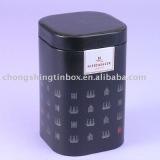 Square tin coffee box