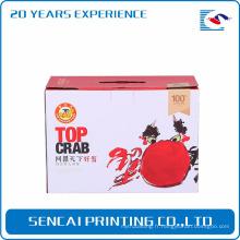 Sencai yangcheng lac poilu crabes boîte en papier