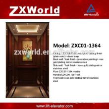 ZXC01-1364 Design de madeira Elevador de passageiros Elevador