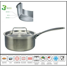 New Product Promotion Pan Korea 3 Ply Stainless Steel Pan