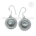 Handmade Jewelry 925 Sterling Silver White CZ Earring Manufacture Indian Silver Jewelry
