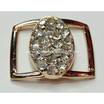 Vintage Alloy Buckles with Rhinestone for Clothes, Bags, Shoes