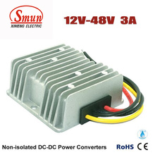 12V a 48V 3A 144W DC-DC Converter Car Power Supply