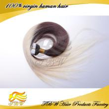 К 2015 Году Новых Продуктов! Ombre Цвет Топ Qulity Человеческих Волос Ленты В Наращивание Волос Remy