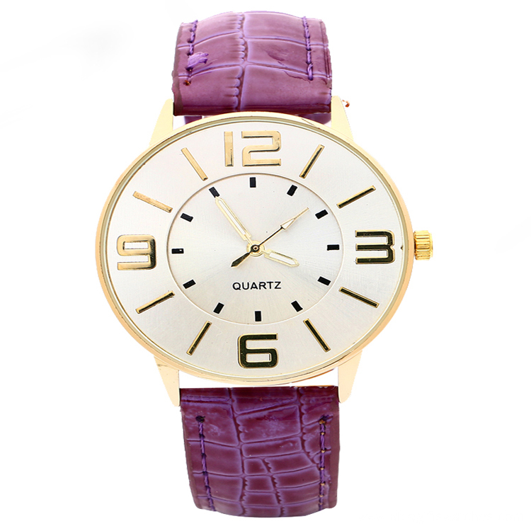 Double Mirror Rose Gold Dail Leather Watch Fashion