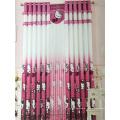 Home Use cortina de tecido de poliéster rosa EDM5296