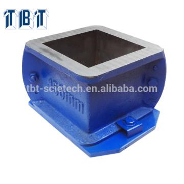 para o teste de compressão dois moldes do cubo do ferro fundido da peça 150mm