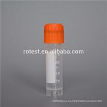 Consumibles de laboratorio y viales criogénicos esterilizados.
