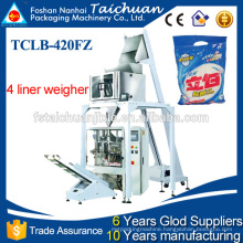 automatic detergent powder packing machine with multihead weigher