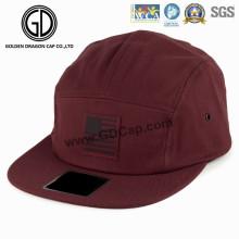 Sombrero de campista 2016 de la fabricación del casquillo de la moda caliente con el logotipo de cuero