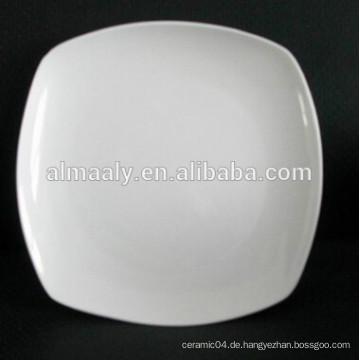 Billige weiße quadratische Teller