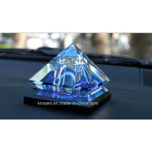New Style Pyramidal Crystal Glass Perfume Bottle