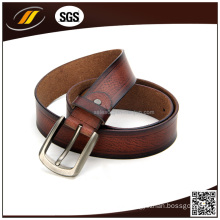 Premium Dark Brown Genuine Leather Belt for Men Real Calf Leather Belt