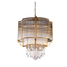 Luxury Lobby Home Decor Led Ceiling Pendant Living Room Large K9 Crystal Chandelier