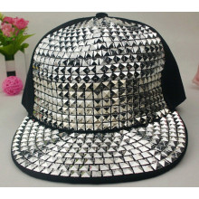 2014 New Arrive Fashion punk rivets hip hop flat brim baseball caps peaked hats Snapback caps for man and woman