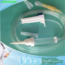 Set de infusión estéril con puerto de inyección en el sitio Y